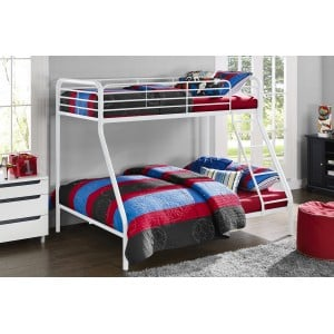 Contemporary Metal Furniture 3ft Single Over Single Bunk Bed