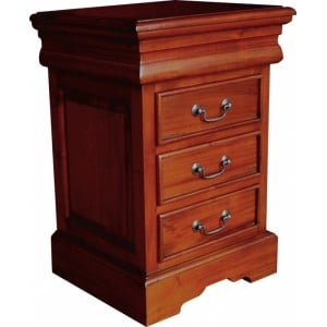 French Mahogany Furniture Sleigh 3 Drawer Bedside Chest