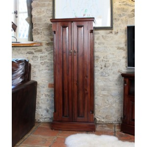La Roque Mahogany Furniture CD DVD Cupboard