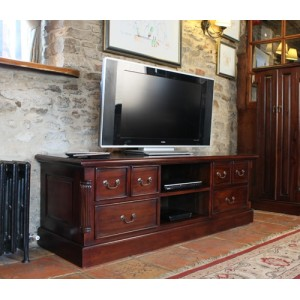 La Roque Mahogany Furniture Widescreen Television Cabinet