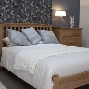 Opus Solid Oak Furniture Kingsize Arched Bed 5ft