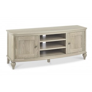 Bentley Designs Bordeaux Chalked Oak Wide Entertainment Unit