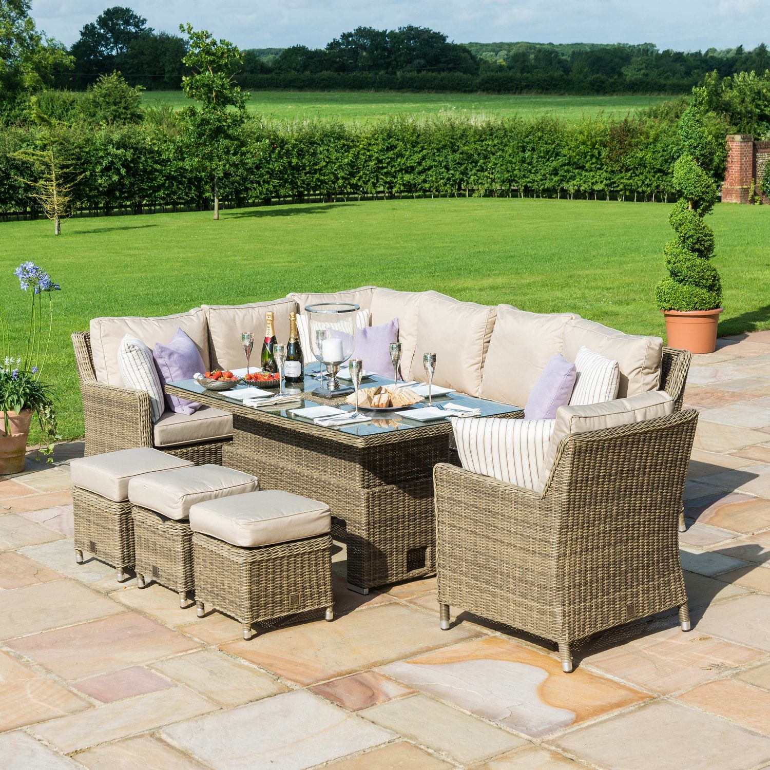 Rattan Garden Furniture Winchester Ice Bucket Corner Chair Oak Furniture House